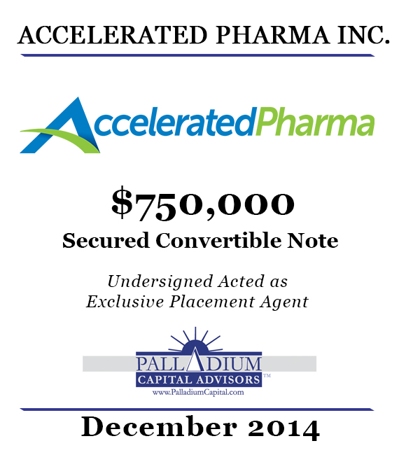 Accelerated Pharma December 2014 Tombstone