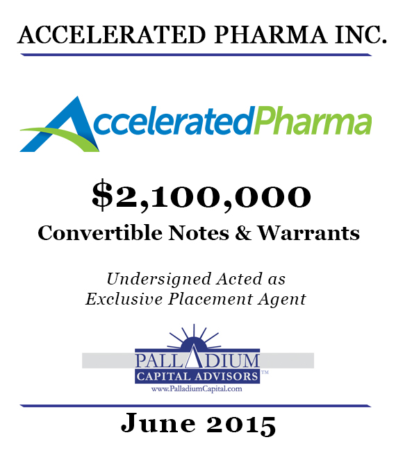 Accelerated Pharma June 2015 Tombstone