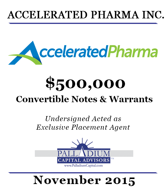 Accelerated Pharma Nov 2015 Tombstone